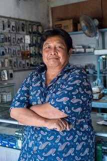 Phone repair shops, Tual, Indonesia, 2019.