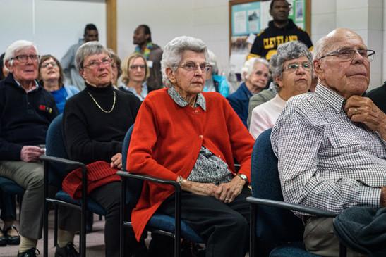 Audience de l'église, Tasmanie, Australie, 2018.