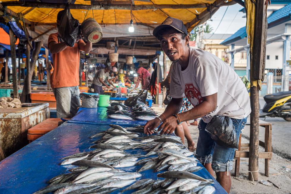 Fish market, Tual, Indonesia, 2019.