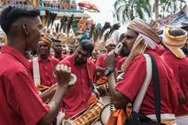 Procession de Thaipusam, grottes de Batu, Kuala Lumpur, Malaisie, 2020.