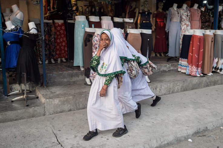 Muslim schoolgirls, Tual, Indonesia, 2019.