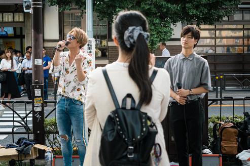Street singers, Tokyo, Japan, 2018.