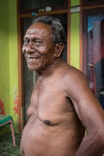 Smiling man, Tual, Indonesia, 2019.