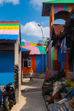 Rainbow neighborhood, Tual, Indonesia, 2019.