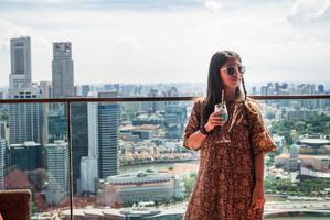 Cocktail haut perché, Singapour, 2019.