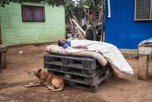 Taking a nap, Papua New Guinea, 2019.