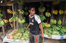Pisang sellers, Tual, Indonesia, 2019.