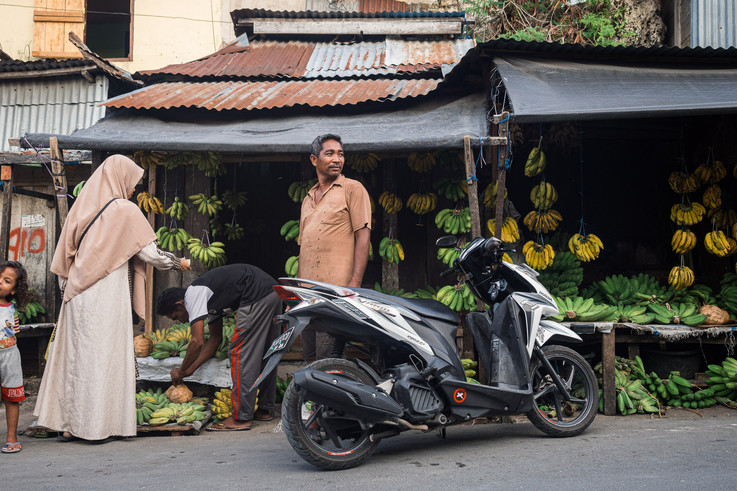 Pisang market, Tual, Indonesia, 2019.