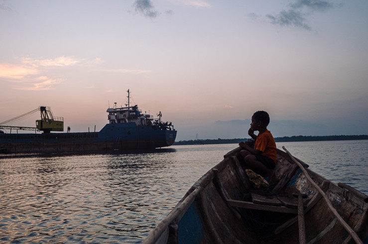 Taxi boat, Bay of Tual, Indonesia, 2019.