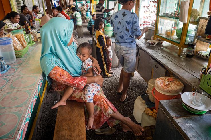 A baby sleeping, Tual, Indonesia, 2019.