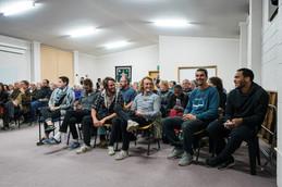 Backpackers audience, Tasmania, Australia, 2018.