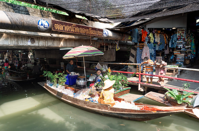 Khlong Lat Mayom Floating Market, Thailand, 2020.