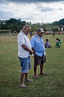 Hommes priants, île de Santo, Vanuatu, 2019.