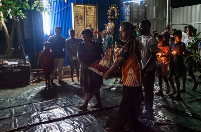 Bringing Mary, Papua New Guinea, 2019.