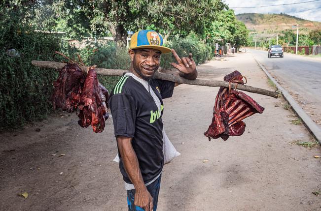 Meat Street seller, Papua New Guinea, 2019.
