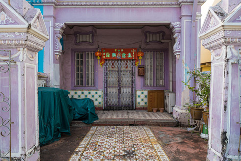 Maison traditionnelle Peranakan, Singapour, 2019.