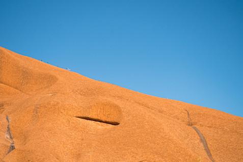 Climbing Uluru, Australia, 2018.