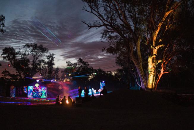 Bush party, Alice Springs, Australie, 2018.