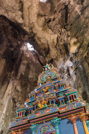 Temple dans les grottes de Batu, Kuala Lumpur, Malaisie, 2020.