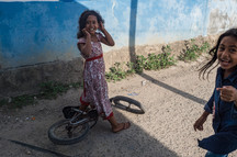 Girls and Bicycle, Tual, Indonesia, 2019.