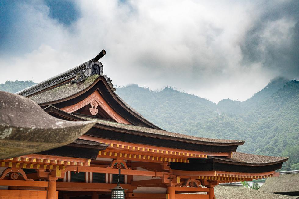 Itsukushima Shrine and mount Misen, Japan, 2019.