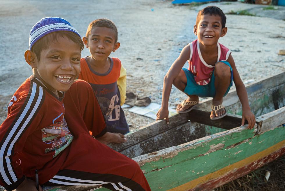 Children of Tual, Indonesia, 2019.