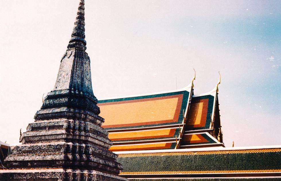 Toits du grand palais, Bangkok, Thaïlande, 2020.