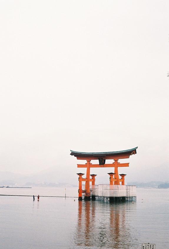 Itsukushima Floating Torii Gate, Japan, 2019.