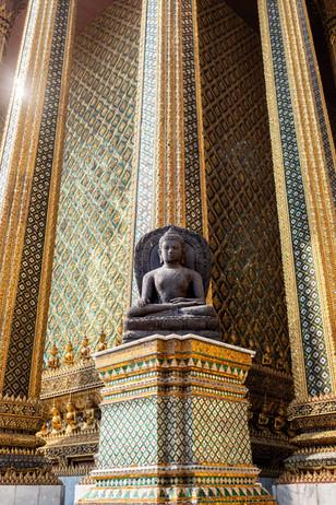 Bouddha au grand palais, Bangkok, Thaïlande, 2020.