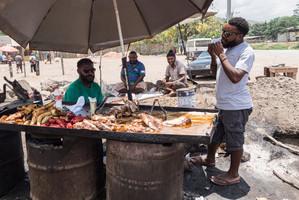 Roasted food, Papua New Guinea, 2019.