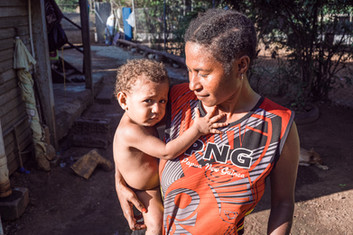 Lyne and her son—PNG, Papua New Guinea, 2019.