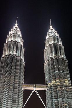 Petronas towers, Kuala Lumpur, Malaysia, 2020.