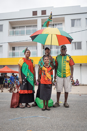 Une famille au jour de l'indépendance, Luganville, Vanuatu, 2019.