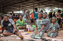 Une famille à la fête de l'indépendance, Luganville, Vanuatu, 2019.