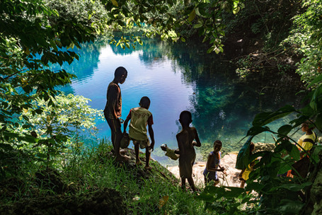 The blue hole, Santo Island, Vanuatu, 2019.