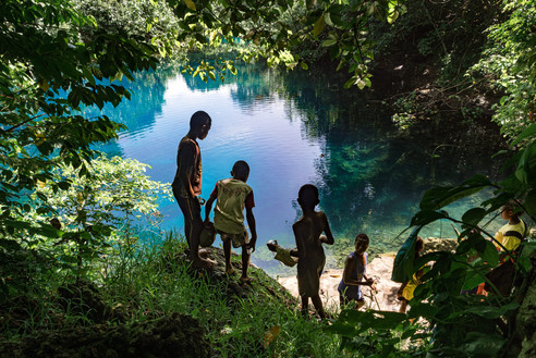 Le trou bleu, l'île de Santo, Vanuatu, 2019.