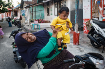 Mother and son, Tual, Indonesia, 2019.