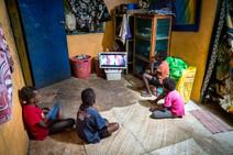 L'heure du film, l'île de Santo, Vanuatu, 2019.