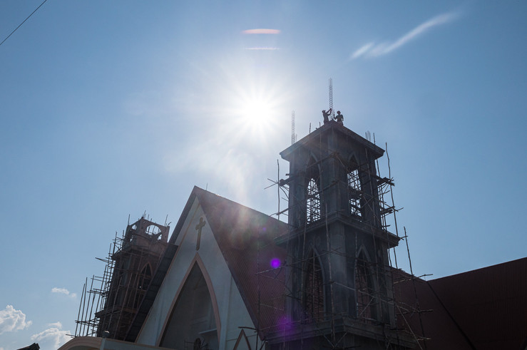 Church's construction, Tual, Indonesia, 2019.