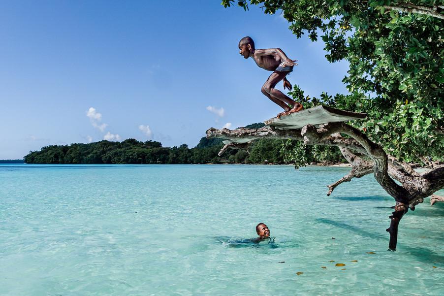 Calzé and Webson, Lonnoc beach, Vanuatu, 2019.