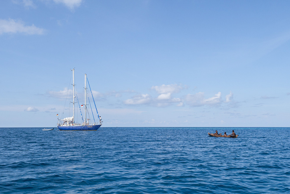 Ship and Canoe, Kasiui Island, Indonesia, 2019.