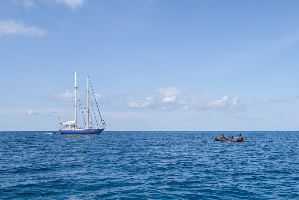 Ship and Canoe, Kasiui Island, Indonesia, 2019.
