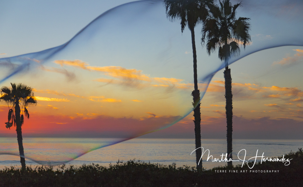 Sunset in A Bubble