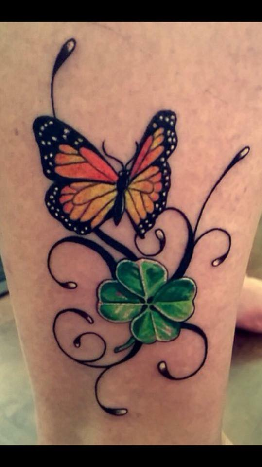 Butterfly and Clover