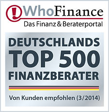WhoFinance Kundenempfehlung - TOP 500 Berater Deutschland 2014
