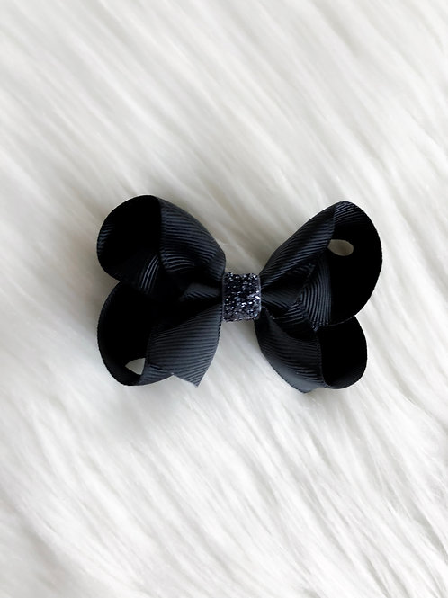 Black w/ Charcoal Stardust Bow (Set of 2)