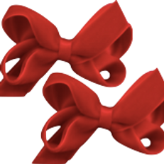 Velvet Red Hair Bow (Set of 2)