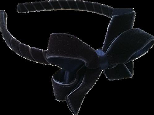 Midnight Blue Velvet Headband