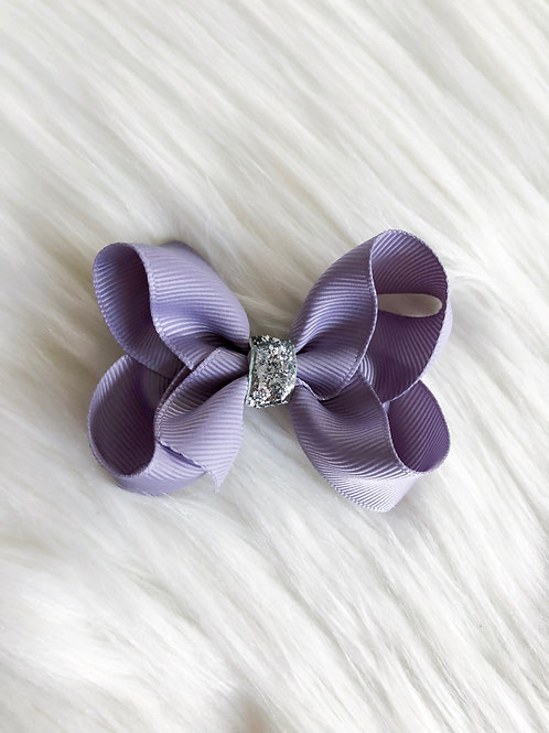 Rich Lavender Stardust Bow (Set of 2)