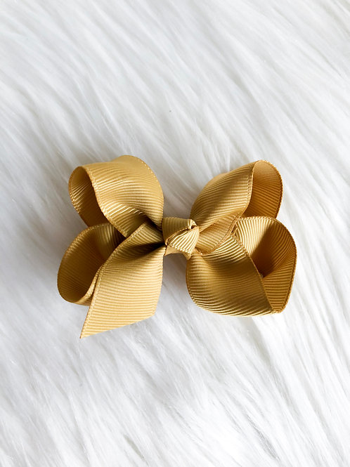 Mustard Classic Bow (Set of 2)